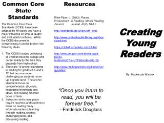 Creating Young Readers