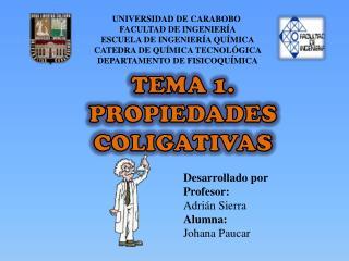 UNIVERSIDAD DE CARABOBO  FACULTAD DE INGENIERÍA ESCUELA DE INGENIERÍA QUÍMICA