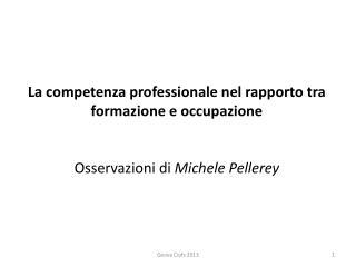 1.  La natura relazionale della competenza professionale