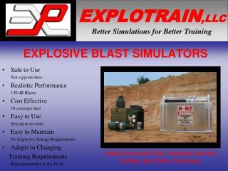 EXPLOSIVE BLAST SIMULATORS
