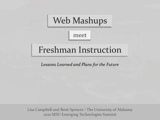 Web  Mashups