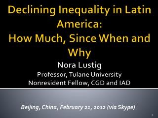 Beijing, China, February 21, 2012 ( via Skype)