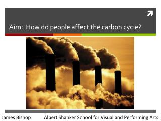 Aim:  How do people affect the carbon cycle?