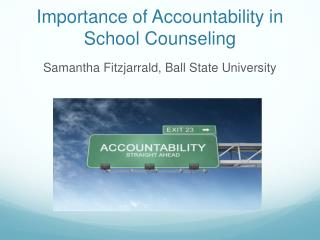 Importance of Accountability in School Counseling