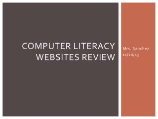 Computer Literacy Websites review