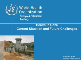 Health in Gaza  Current Situation and Future Challenges