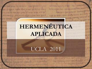 HERMENÉUTICA APLICADA