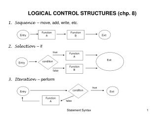 LOGICAL CONTROL STRUCTURES (chp. 8)