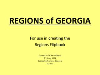 REGIONS of GEORGIA