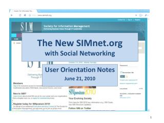 The New SIMnet with Social Networking