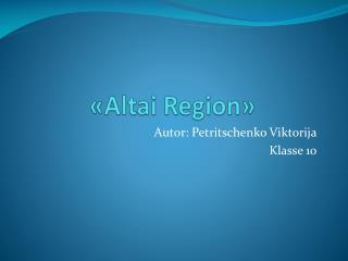 « Altai Region »