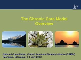 The Chronic Care Model Overview