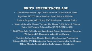 Brief  experiences,ASu