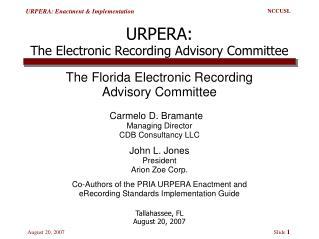 URPERA: The Electronic Recording Advisory Committee