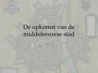 De opkomst van de middeleeuwse stad
