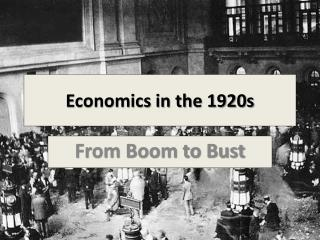 Economics in the 1920s