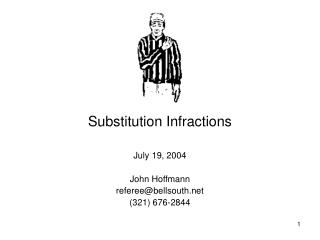 Substitution Infractions