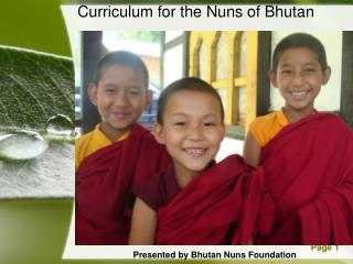Curriculum for the Nuns of Bhutan
