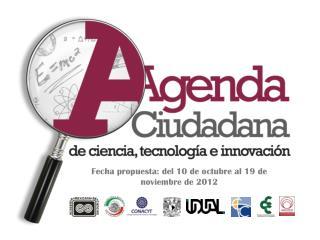 Fecha propuesta:  del  10 de octubre al 19 de noviembre de 2012