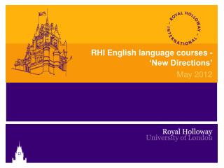 RHI English language courses -