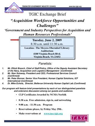 Acquisition Workforce Opportunities and Challenges   Government and Industry Perspectives for Acquisition and Human Res