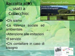 Raccolta abiti usati a  Collecchio :