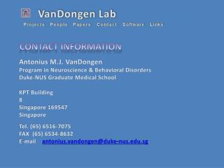 Antonius M.J. VanDongen Program in Neuroscience & Behavioral Disorders