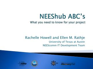 NEEShub  ABC's What you need to know for your project