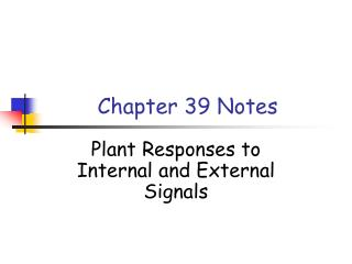 Chapter 39 Notes