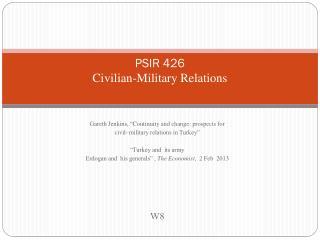 PSIR 426 Civilian-Military Relations