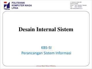 Desain Internal Sistem