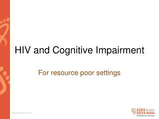 HIV and Cognitive Impairment
