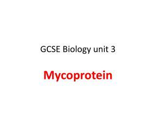 GCSE Biology unit 3