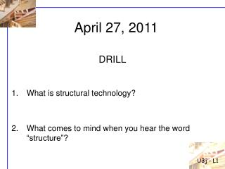 """What is structural technology? What comes to mind when you hear the word """"structure""""?"""