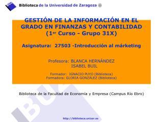Biblioteca de la Facultad de Economía y  Empresa (Campus  Río Ebro)