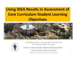 Using IDEA Results in Assessment of Core Curriculum Student Learning Objectives