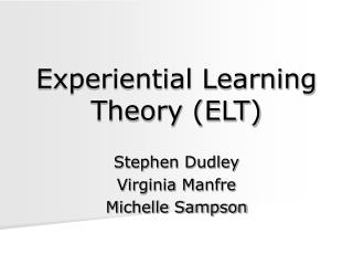 Experiential Learning Theory ELT