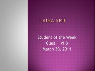LAIBA ARIF
