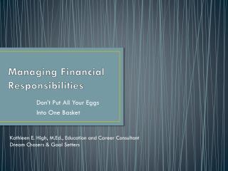 Managing Financial Responsibilities