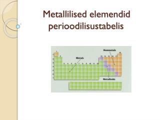 Metallilised elemendid         perioodilisustabelis