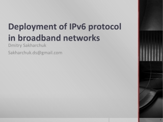 Using IPv6 with IPv4