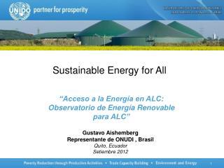"""""""Acceso a la Energía en ALC: Observatorio de Energía Renovable para ALC"""""""