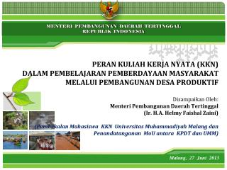 Malang ,   27  Juni   2013