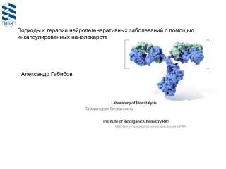Подходы  к терапии  нейродегенеративных  заболеваний с помощью  инкапсулированных  нанолекарств