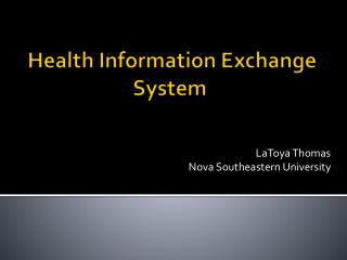 Health Information Exchange System