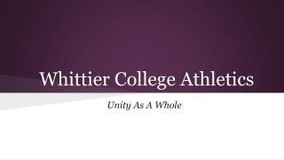 Whittier College Athletics