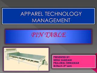 APPAREL TECHNOLOGY MANAGEMENT