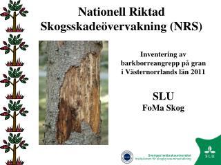 Nationell Riktad Skogsskadeövervakning (NRS)