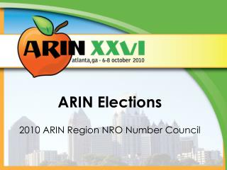 ARIN Elections