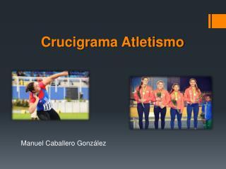 Crucigrama Atletismo